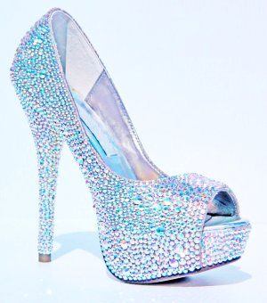 Blue Sparkly High Heels | Tsaa Heel